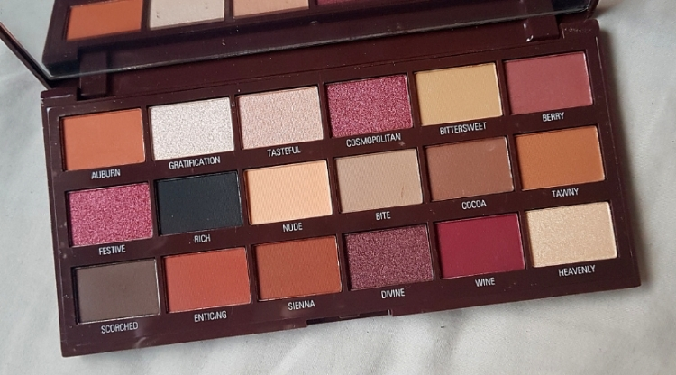 I Heart Revolution Cranberries And Chocolate Palette Review