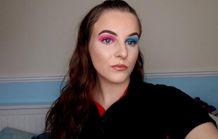 Gender Reveal Makeup Look Littleblogofmakeup